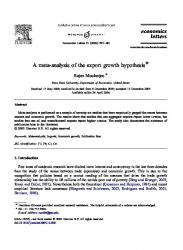 export led growth hypothesis in malaysia an Export-led growth hypothesis: empirical evidence from selected sub-saharan african countries chia yee eea alabuan faculty of international finance, universiti malaysia sabah labuan international campus jalan sungai pagar, 87000 ft labuan, malaysia abstract the objective of this study is to examine the validity of export-led growth (elg.