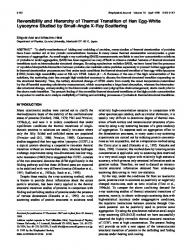 Arginine prevents thermal aggregation of hen egg white proteins reversibility and hierarchy of thermal transition of hen egg white lysozyme studied by small angle x ray scattering fandeluxe Gallery